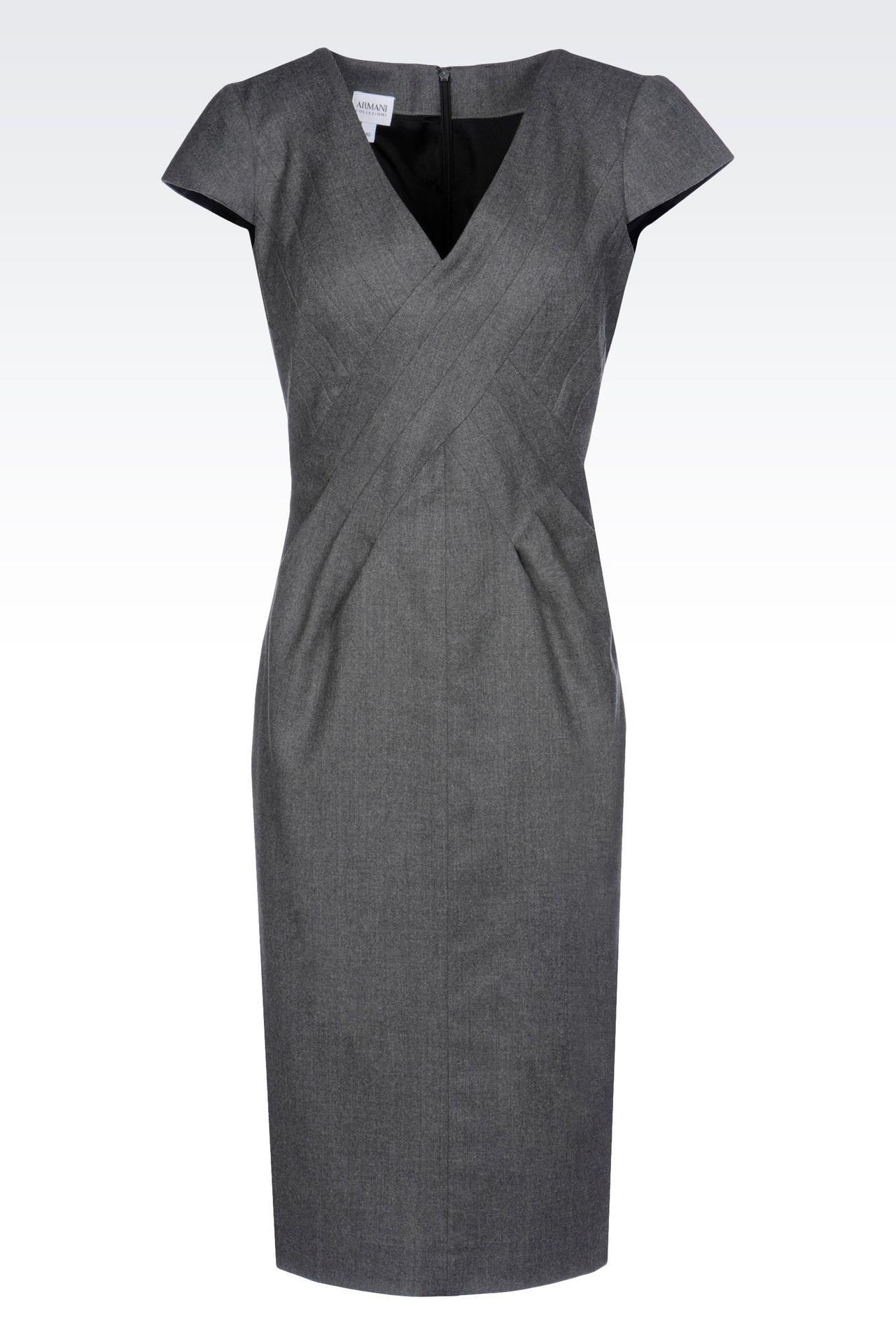FLANNEL DRESS: 3/4 Length Dresses Women by Armani - 0