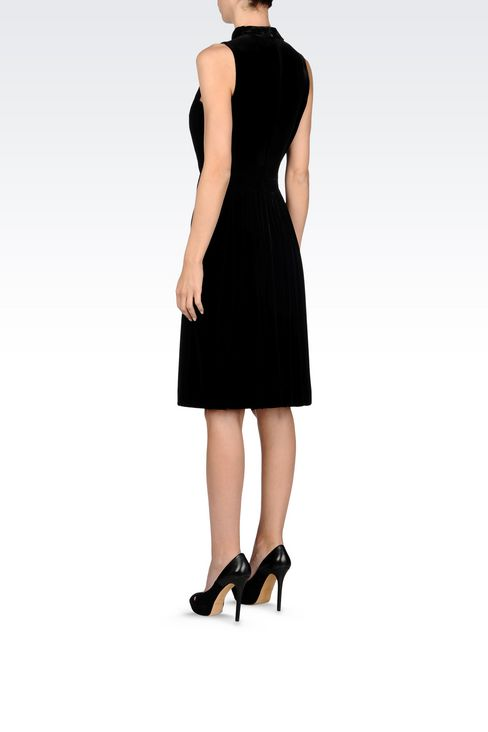 RUNWAY DRESS IN VELVET WITH EMBROIDERY: Short Dresses Women by Armani - 4