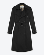 CLASSIC TRENCH COAT IN BLACK TECHNICAL GABARDINE