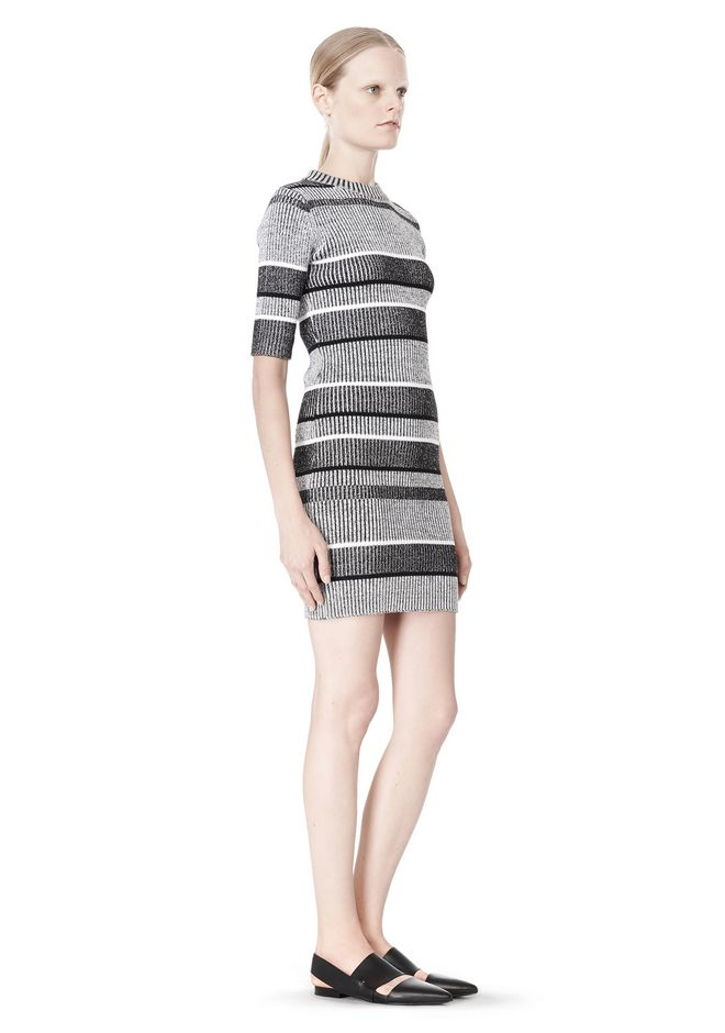 T by ALEXANDER WANG RIB KNIT SHORT SLEEVE DRESS Short Dress Adult 12_n_e