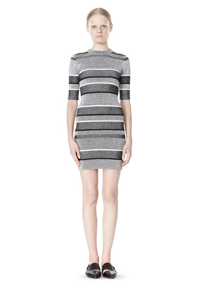 T by ALEXANDER WANG RIB KNIT SHORT SLEEVE DRESS Short Dress Adult 12_n_f