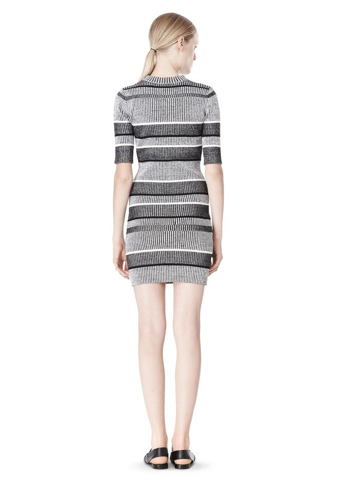 T by ALEXANDER WANG RIB KNIT SHORT SLEEVE DRESS Short Dress Adult 12_n_r
