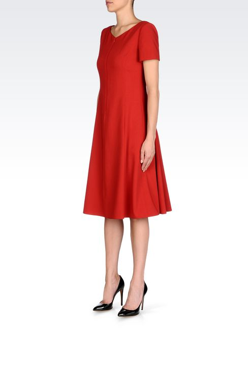 DRESS IN VIRGIN WOOL: 3/4 Length Dresses Women by Armani - 3