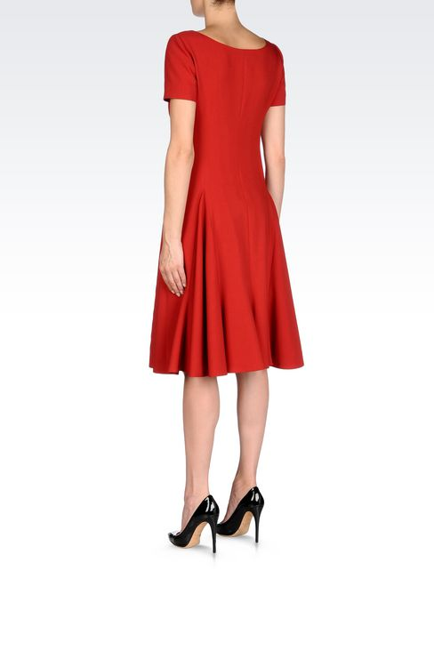 DRESS IN VIRGIN WOOL: 3/4 Length Dresses Women by Armani - 4