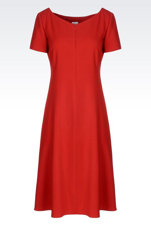 DRESS IN VIRGIN WOOL: 3/4 Length Dresses Women by Armani - 1