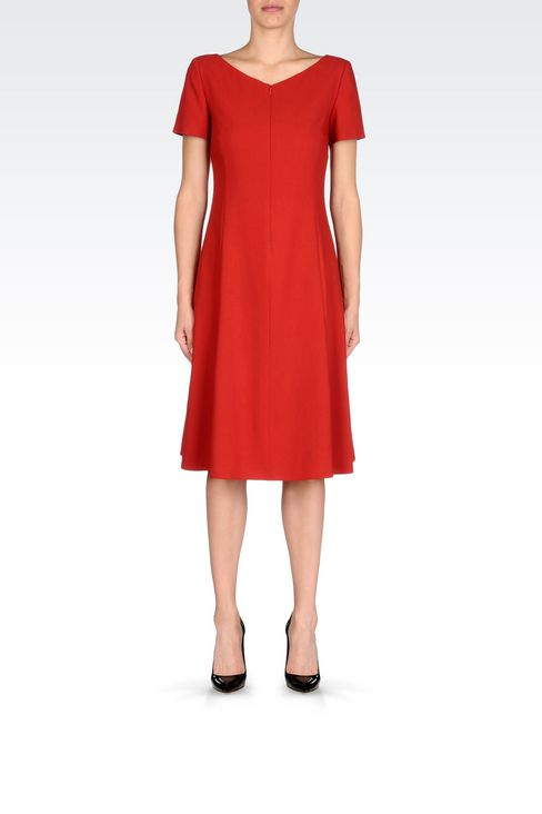 DRESS IN VIRGIN WOOL: 3/4 Length Dresses Women by Armani - 2
