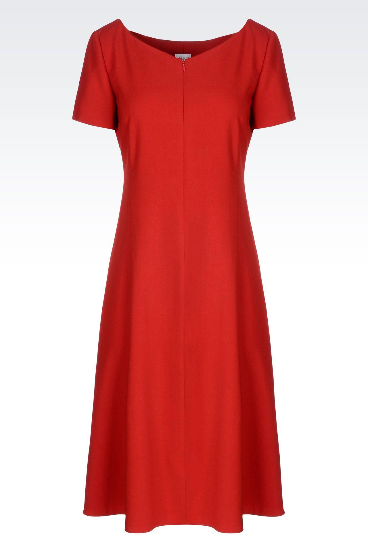 DRESS IN VIRGIN WOOL: 3/4 Length Dresses Women by Armani - 0