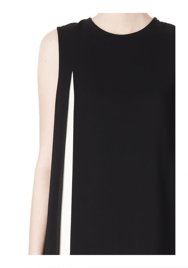 ALEXANDER WANG DOUBLE LAYER DRESS WITH CONTRAST SLIT Short Dress Adult 12_n_a