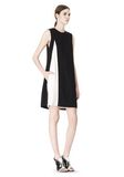 ALEXANDER WANG DOUBLE LAYER DRESS WITH CONTRAST SLIT Short Dress Adult 8_n_e