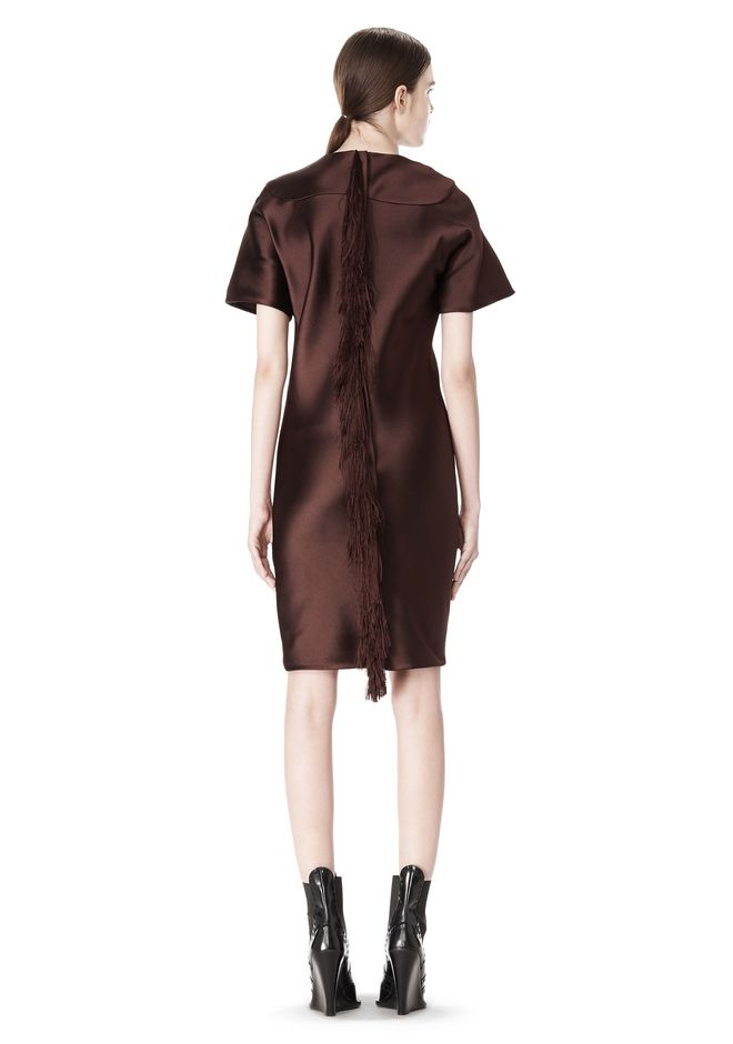 EXCLUSIVE T-SHIRT DRESS WITH FRINGE