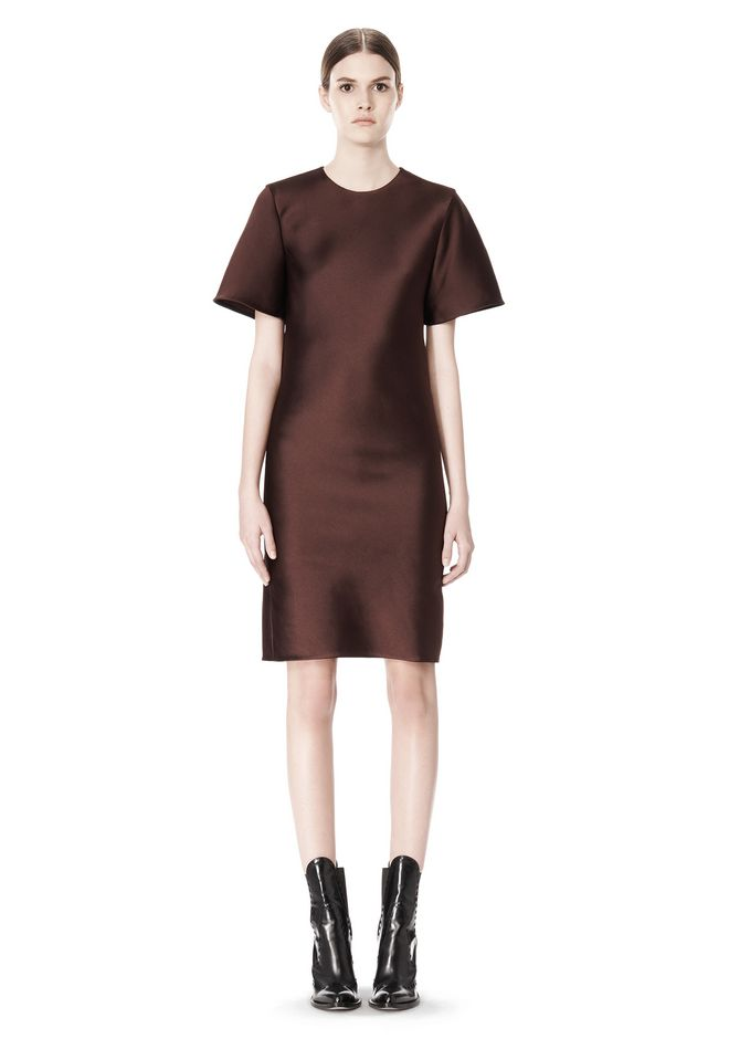ALEXANDER WANG EXCLUSIVE T-SHIRT DRESS WITH FRINGE