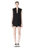 ALEXANDER WANG DISTRESSED SLEEVELESS V-NECK TUNIC Short Dress Adult 8_n_f