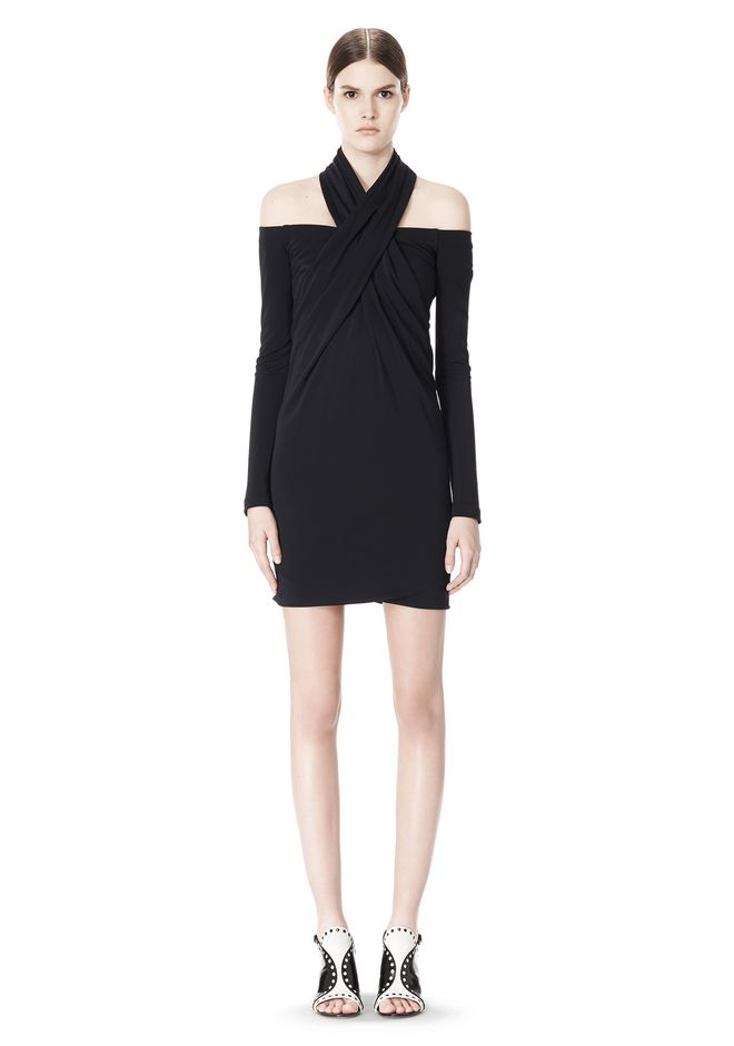 ALEXANDER WANG LONG SLEEVE SHOUDLERLESS DRESS