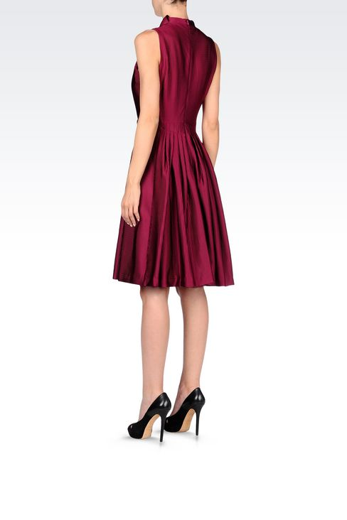 FLARED DRESS WITH RELIEF PATTERN: Short Dresses Women by Armani - 4