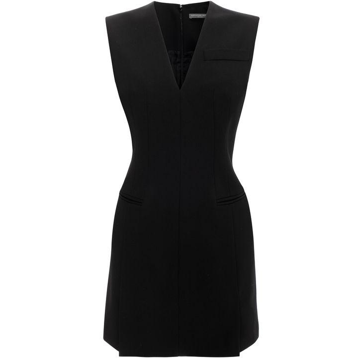 Alexander McQueen, V-Neck Suit Mini Dress