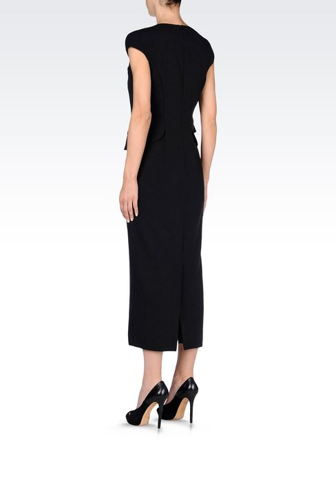 LONG DRESS WITH APPLIED GILET: 3/4 Length Dresses Women by Armani - 4