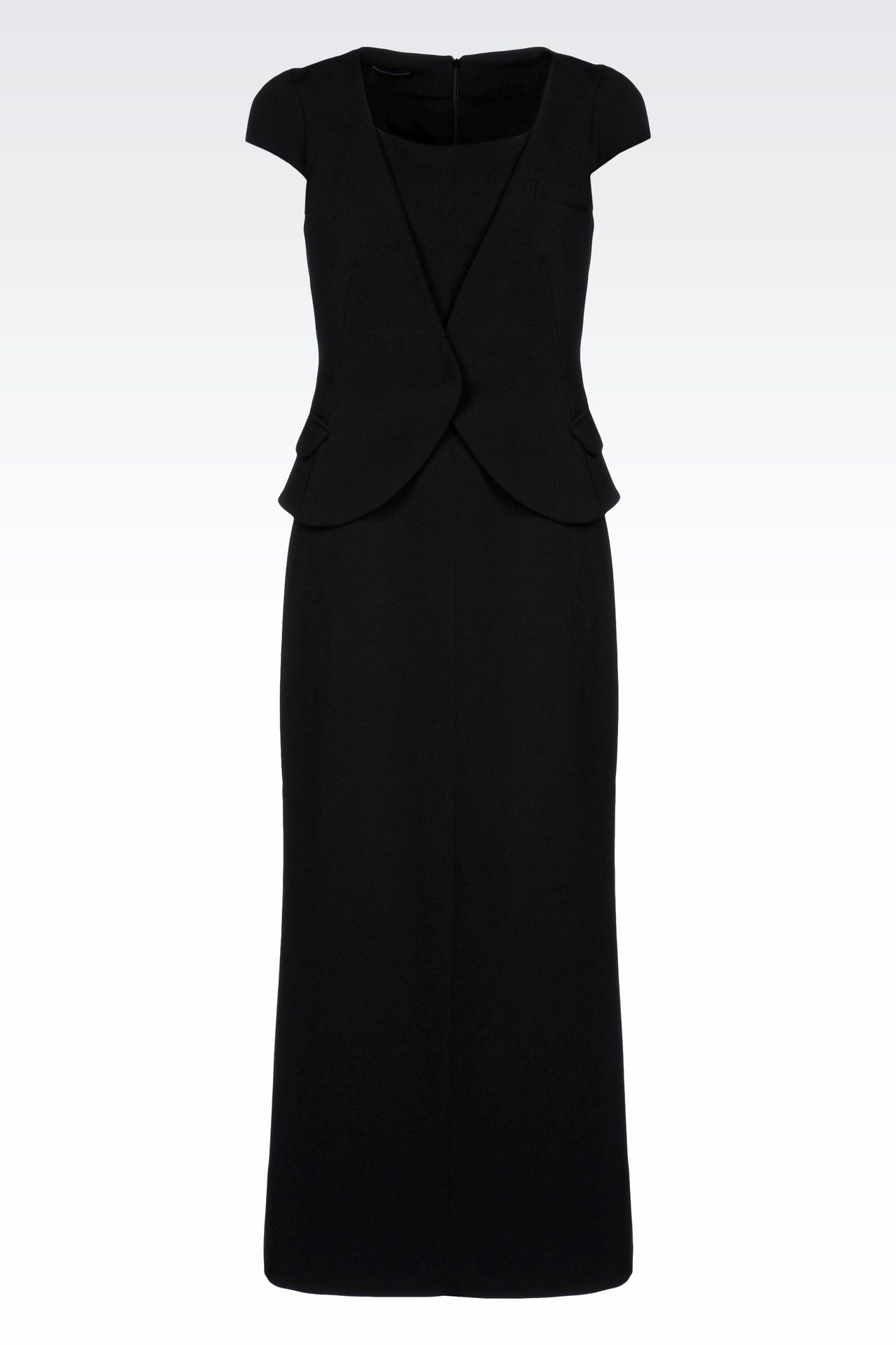 LONG DRESS WITH APPLIED GILET: 3/4 Length Dresses Women by Armani - 0