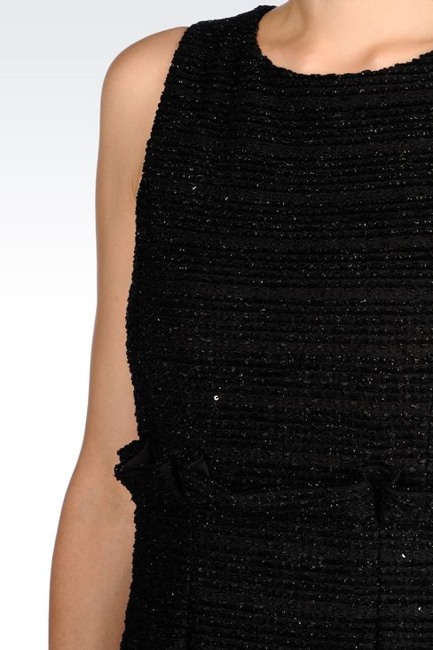 DRESS IN LUREX JERSEY: Short Dresses Women by Armani - 5