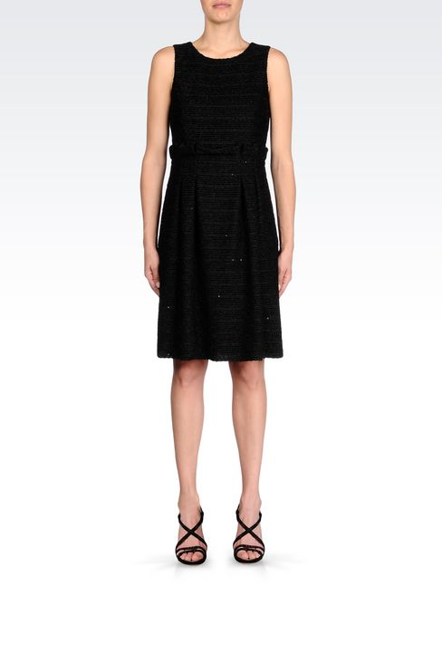 DRESS IN LUREX JERSEY: Short Dresses Women by Armani - 2