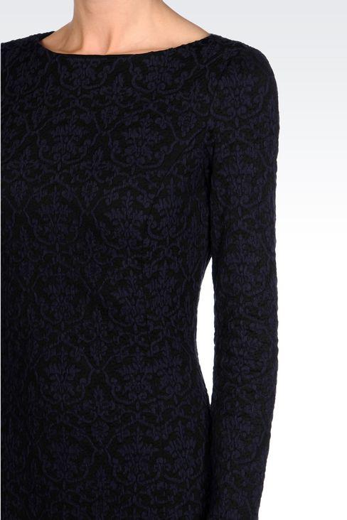 DRESS IN JACQUARD JERSEY: Short Dresses Women by Armani - 5