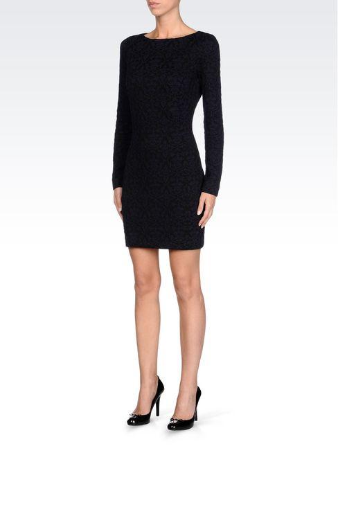 DRESS IN JACQUARD JERSEY: Short Dresses Women by Armani - 3