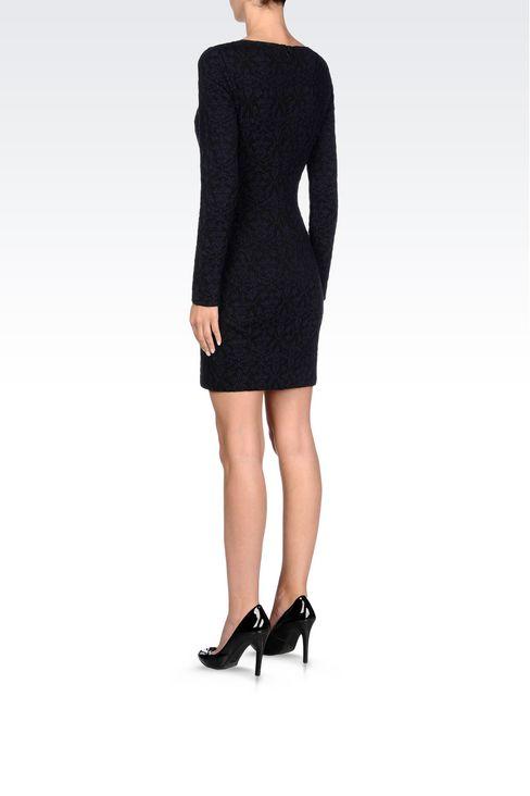 DRESS IN JACQUARD JERSEY: Short Dresses Women by Armani - 4