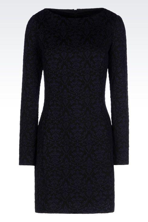 DRESS IN JACQUARD JERSEY: Short Dresses Women by Armani - 1
