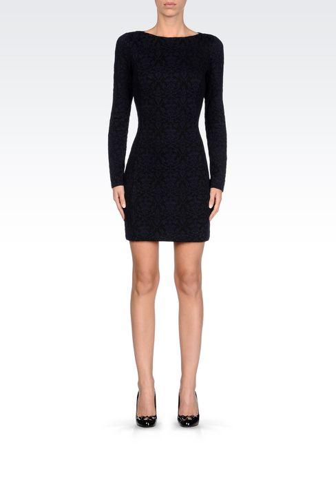 DRESS IN JACQUARD JERSEY: Short Dresses Women by Armani - 2
