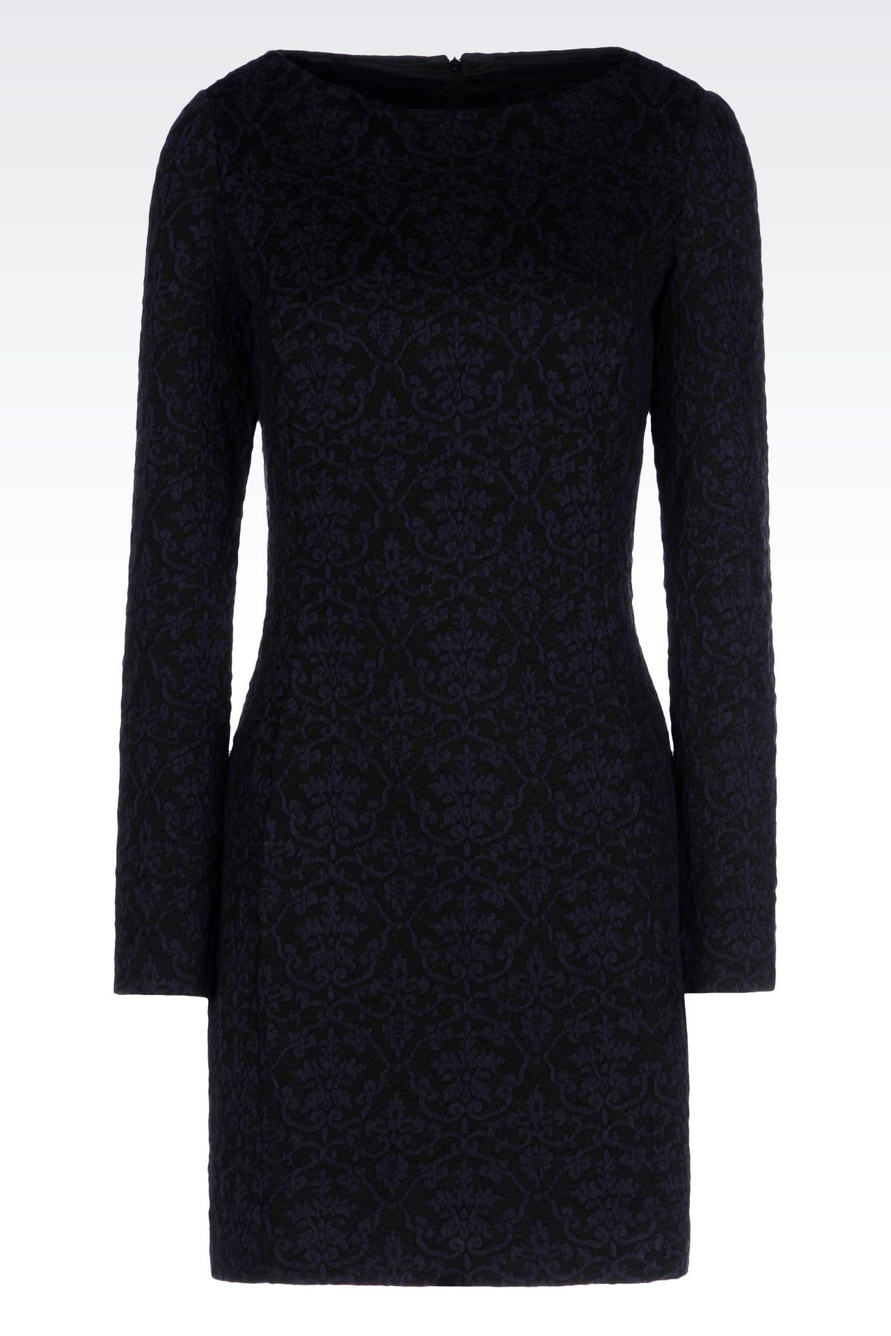 DRESS IN JACQUARD JERSEY: Short Dresses Women by Armani - 0