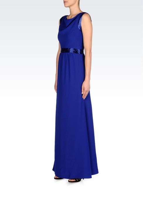 LONG EVENING DRESS IN CADY: Long dresses Women by Armani - 3