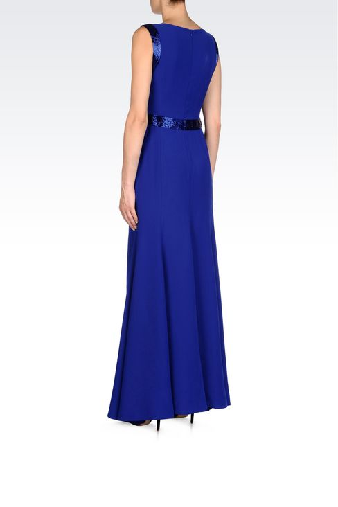 LONG EVENING DRESS IN CADY: Long dresses Women by Armani - 4