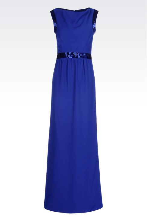 LONG EVENING DRESS IN CADY: Long dresses Women by Armani - 1