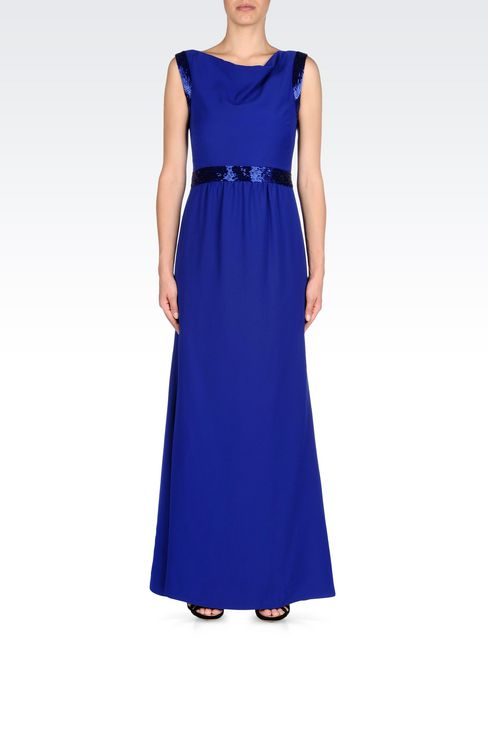 LONG EVENING DRESS IN CADY: Long dresses Women by Armani - 2