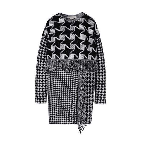 STELLA McCARTNEY, Mini, Dogtooth Mix Dress
