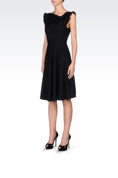 DRESS IN TECHNICAL VISCOSE: Short Dresses Women by Armani - 3