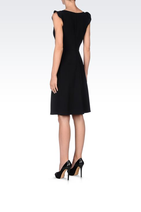 DRESS IN TECHNICAL VISCOSE: Short Dresses Women by Armani - 4