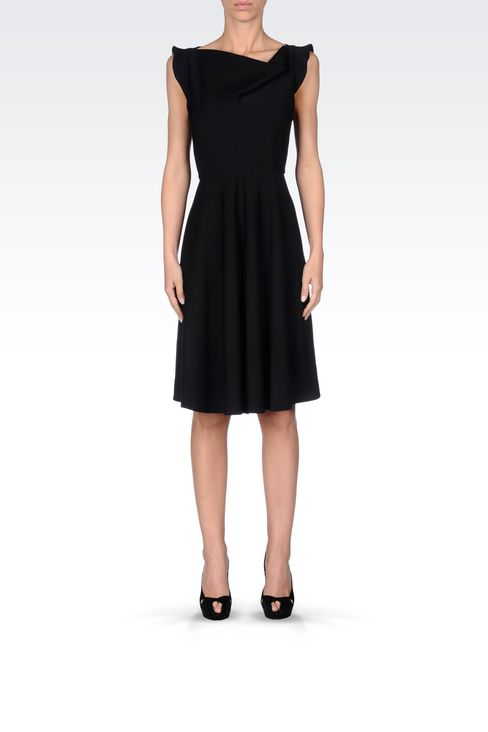 DRESS IN TECHNICAL VISCOSE: Short Dresses Women by Armani - 2