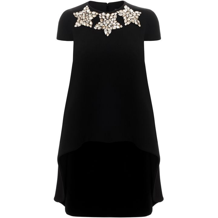 Alexander McQueen, Star Crystal Faceted Trompe L'Oeil Trapeze Dress