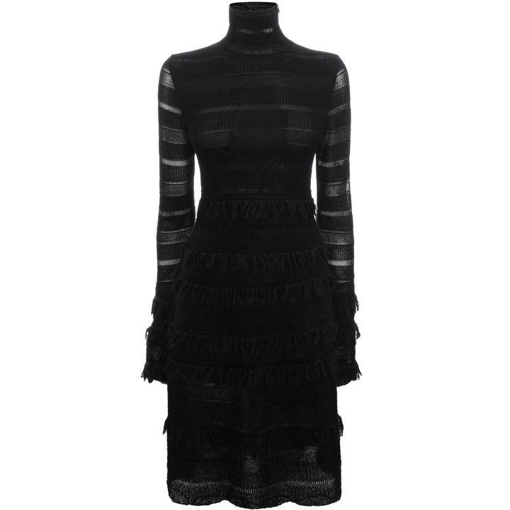 Alexander McQueen, Robe а taille empire en dentelle faзon patchwork