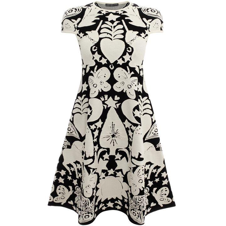 Alexander McQueen, Naive Pagan Jacquard Mini A Line Dress