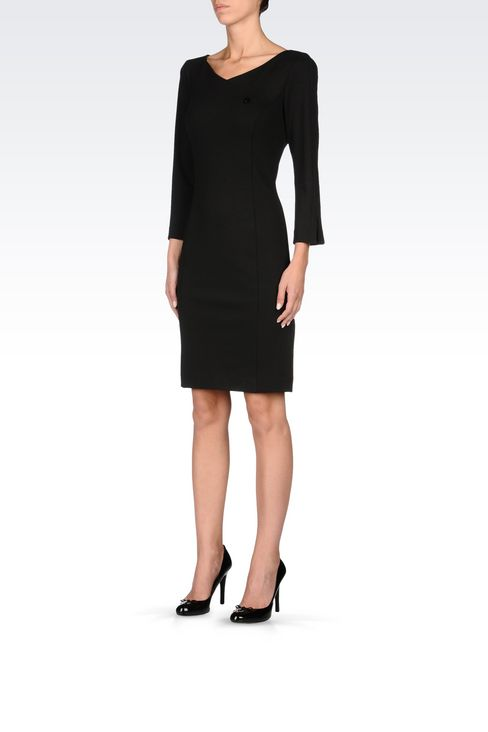 DRESS IN STRETCH VISCOSE INTERLOCK: Jersey dresses Women by Armani - 3