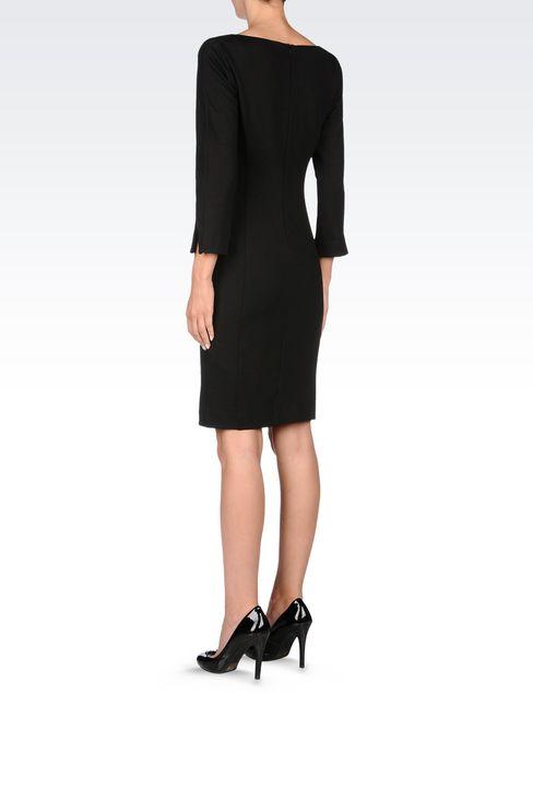 DRESS IN STRETCH VISCOSE INTERLOCK: Jersey dresses Women by Armani - 4