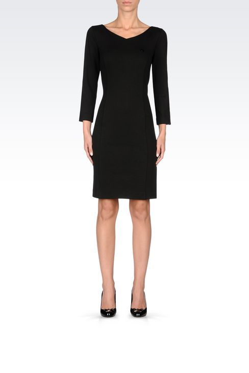 DRESS IN STRETCH VISCOSE INTERLOCK: Jersey dresses Women by Armani - 2