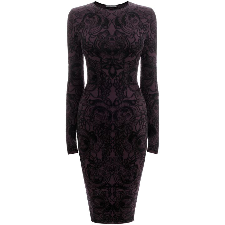 Alexander McQueen, 3D Flower Jacquard Pencil Dress