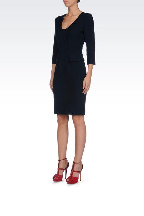 SHEATH IN VISCOSE BLEND: Short Dresses Women by Armani - 3