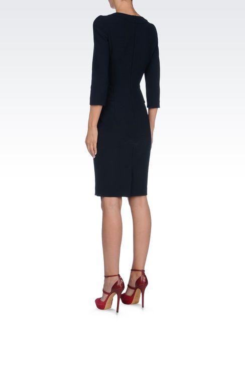 SHEATH IN VISCOSE BLEND: Short Dresses Women by Armani - 4