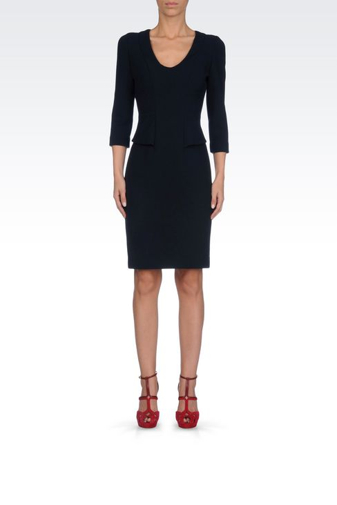 SHEATH IN VISCOSE BLEND: Short Dresses Women by Armani - 2