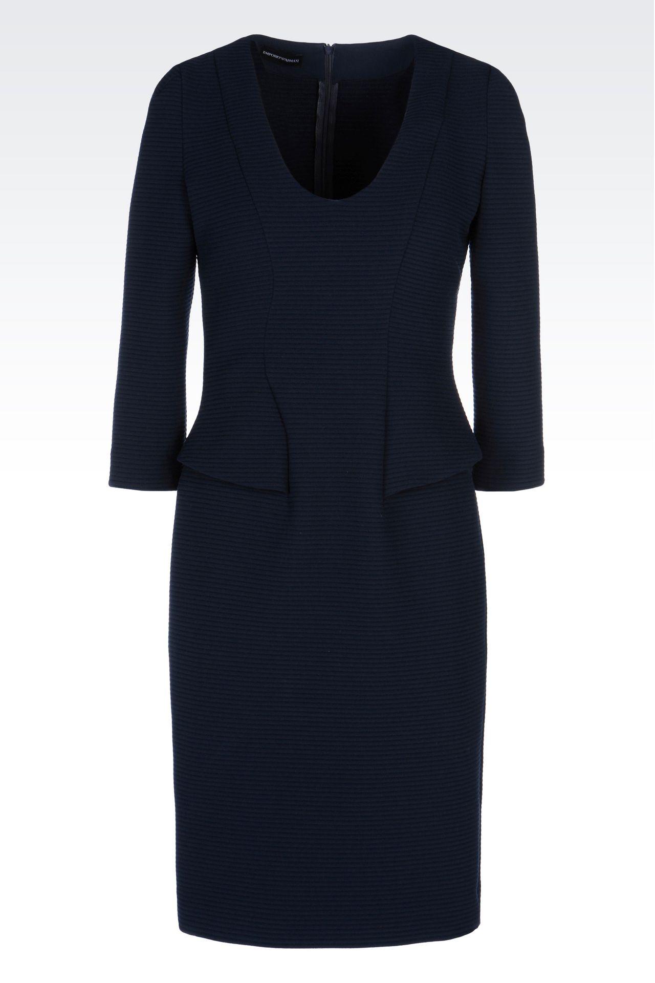 SHEATH IN VISCOSE BLEND: Short Dresses Women by Armani - 0