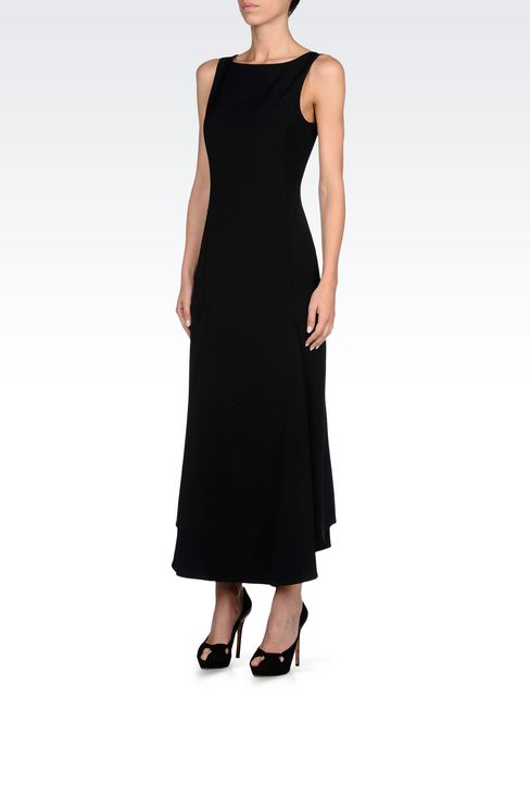 LONG DRESS WITH LOW BACK: 3/4 Length Dresses Women by Armani - 3