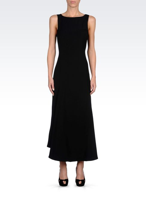 LONG DRESS WITH LOW BACK: 3/4 Length Dresses Women by Armani - 2
